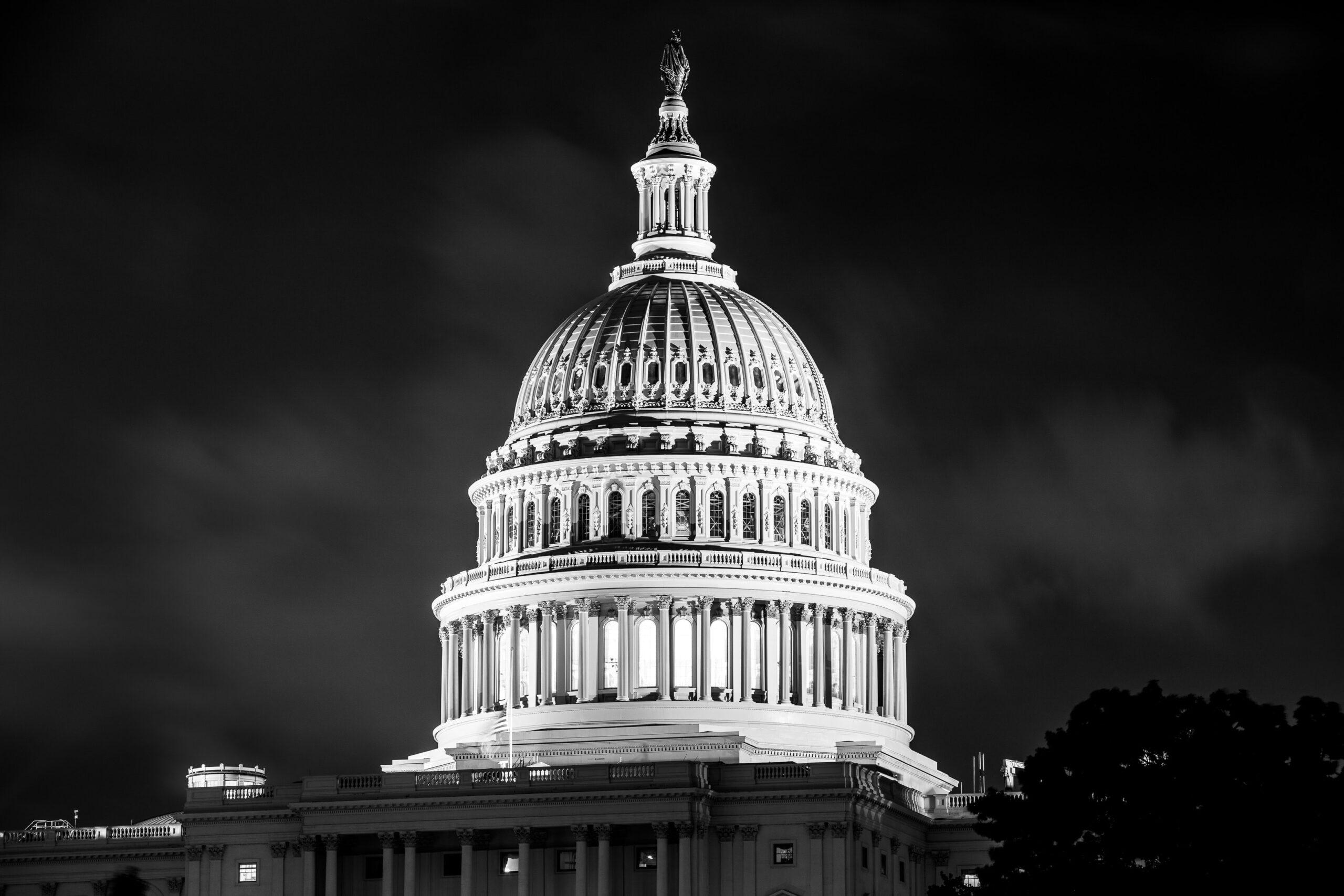 Imagen en blanco y negro de Capitol Rotunda
